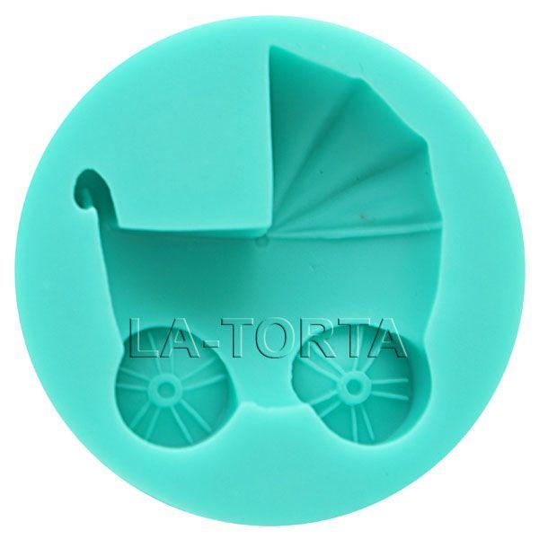 С помощью молда Коляска Вы сможете легко создавать небольшие детские коляски (размером 5 х 6 см) из мастики и марципана.  http://la-torta.com.ua/product/silikovyy-mold-kolyaska  #силиконовыймолд #молд