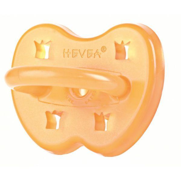 Hevea 100% rubber fopspeen met kroon. 0-3 maanden.