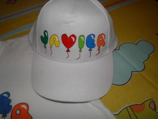 Gorra de niño personalizada pintada a mano
