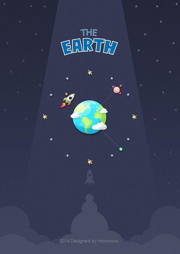 The earth on Behance