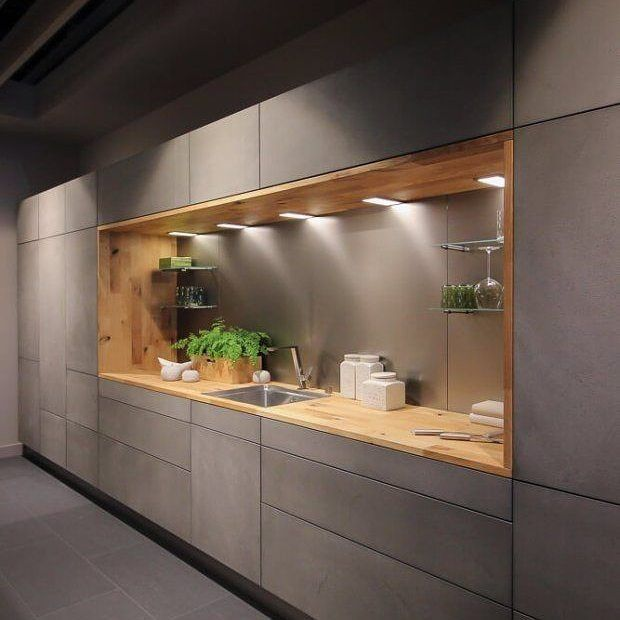 This would be a  #warehouse style #kitchen love the timber and lighting!  From pinterest  #design #trends #style  #lighting