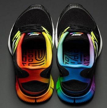 LGBT Nikes. So cool! I support can I have the shoes lol