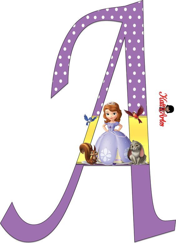 Sofia the First Alphabet. Alfabeto de Sofía Primera
