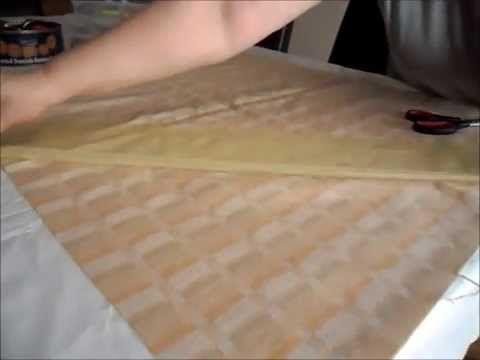 Truco para cortar y hacer cinta de bies - YouTube
