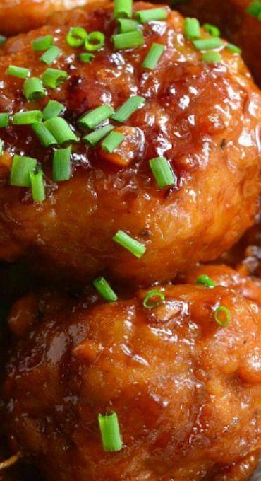 Honey Garlic Teriyaki Chicken Meatballs