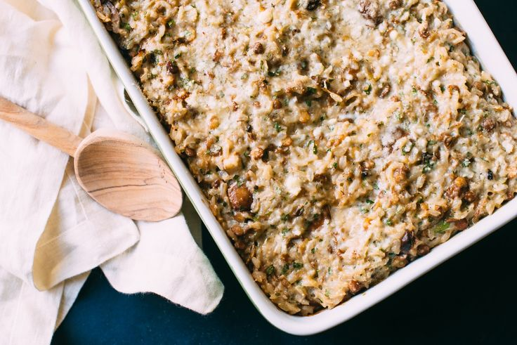 Recipe: Cheesy Lentil, Mushroom & Rice Bake — Recipes from The Kitchn