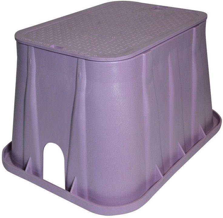 21 x 15.75 x 12 in. Plastic Rectangular Irrigation Valve Box Purple Outdoor #box #irrigationvalve #valvebox
