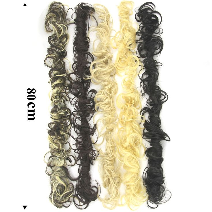 Soowee 80cm 8 Colors Synthetic Hair Bun Curly Chignon Hair Extension Headband Hair Donut Roller Hairband. Click visit to buy #SyntheticExtensions