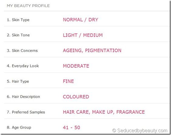 create your own personal Beauty Edit profile