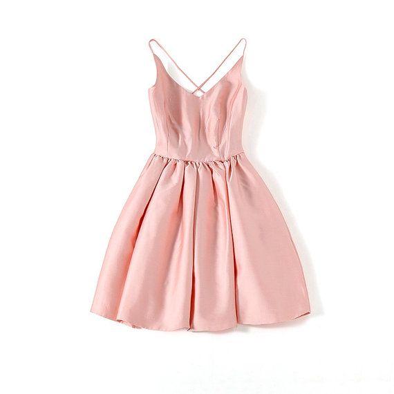 100% Mulberry Silk Backless Prom Dress Knee by JewelToneWedding