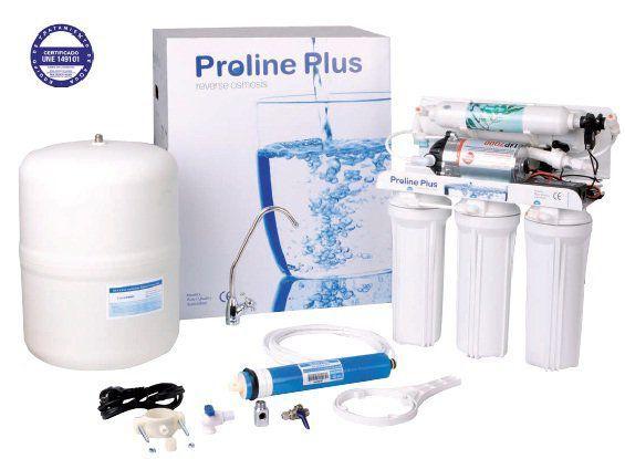 Osmosis domestica Proline Plus Pump. Nuestra osmosis inversa con bomba más vendida ahora en rebajas en nuestra web filtrosdescalcificadores.es