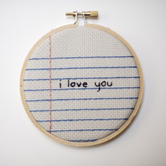 Saturday Stitches: Another lovely little note