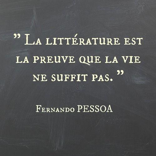 la littérature est la preuve que la vie ne suffit pas