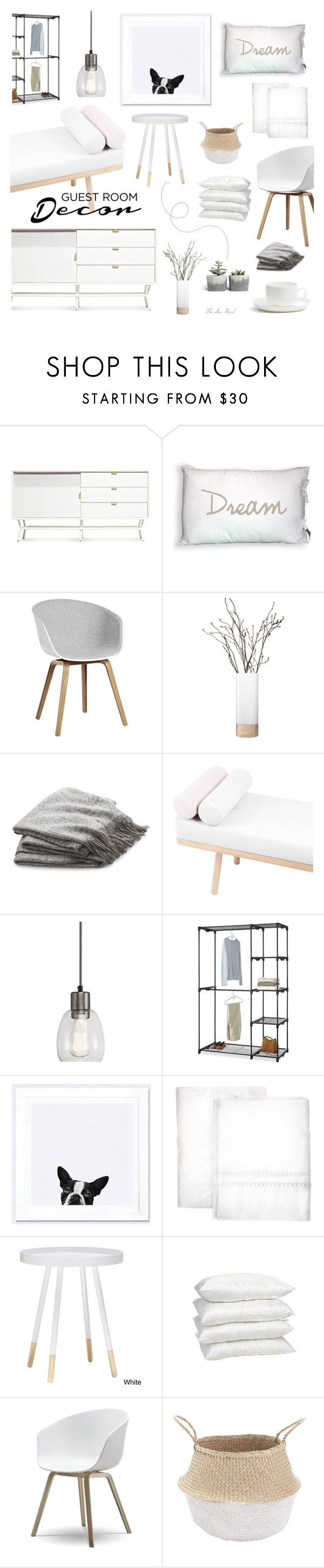 """""""Guest Room Decor"""" by theseapearl on Polyvore featuring interior, interiors, interior design, home, home decor, interior decorating, Blu Dot, HAY, LSA International and Crate and Barrel"""