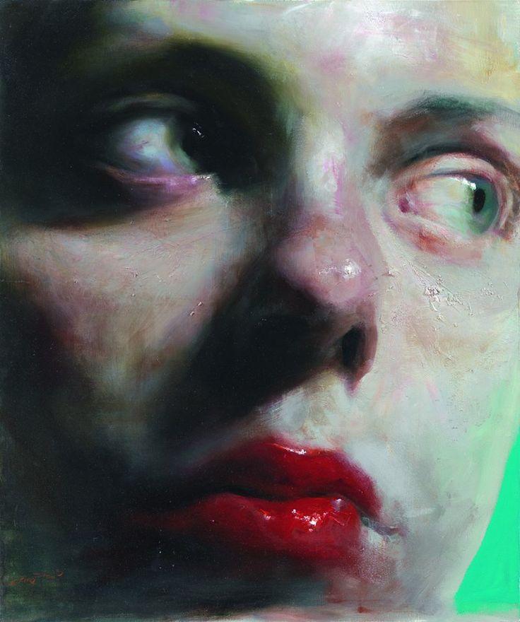 Σάββας Γεωργιάδης, Μια ματιά (2013), λάδι σε καμβά / Savas Georgiadis, A glance (2013) oil on canvas.