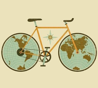 Bicycle Map... I want this blown up and framed