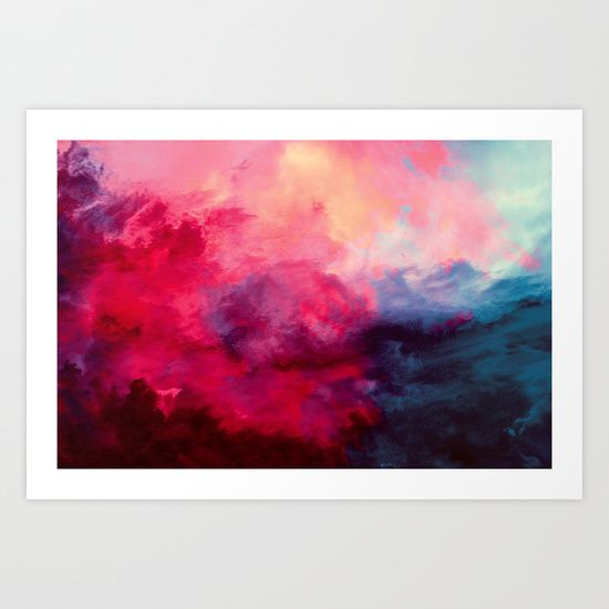 'Reassurance' by Caleb Troy.  Abstract art print. Rainbow. Multi color. Acrylic. Vibrant.