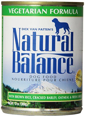 Natural Balance Ultra Premium Canned Dog Food, Vegetarian Formula, 13-Ounce (Pack of 12) - This ultra premium canned dog food is designed to provide all breeds of adult dogs with complete and balanced nutrition in an alternative to meat-based diets. Our Vegetarian Canned Dog Formula offers your pet the same essential nutrients found in diets with meat as the primary protein source, but...