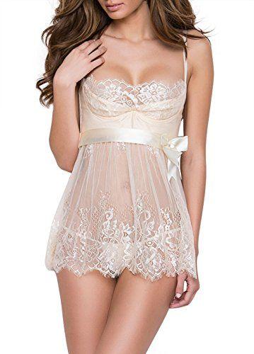 ad  weddings  weddingday  shopnow Dlsave Women s Sexy Lace Bridal Babydoll  Lingerie Transpa b4dea9822