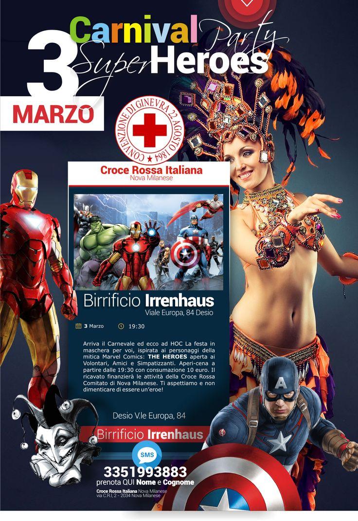 "Carnival Party ""the Hereos"" - 3 Marzo 2017"