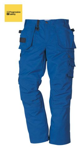 PROSTRETCH TROUSER KHAKI REG - Multi-pocketed tradesman's trousers, two loose outside pockets, reinforced with Cordura, one with external patch pocket and one with three smaller pockets and tool loops, two front patch pockets, two back pockets with gussets. - www.psf.co.uk