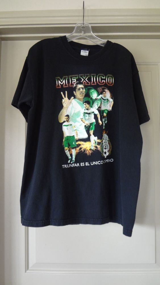 Black Mexico Soccer Futbol T-Shirt