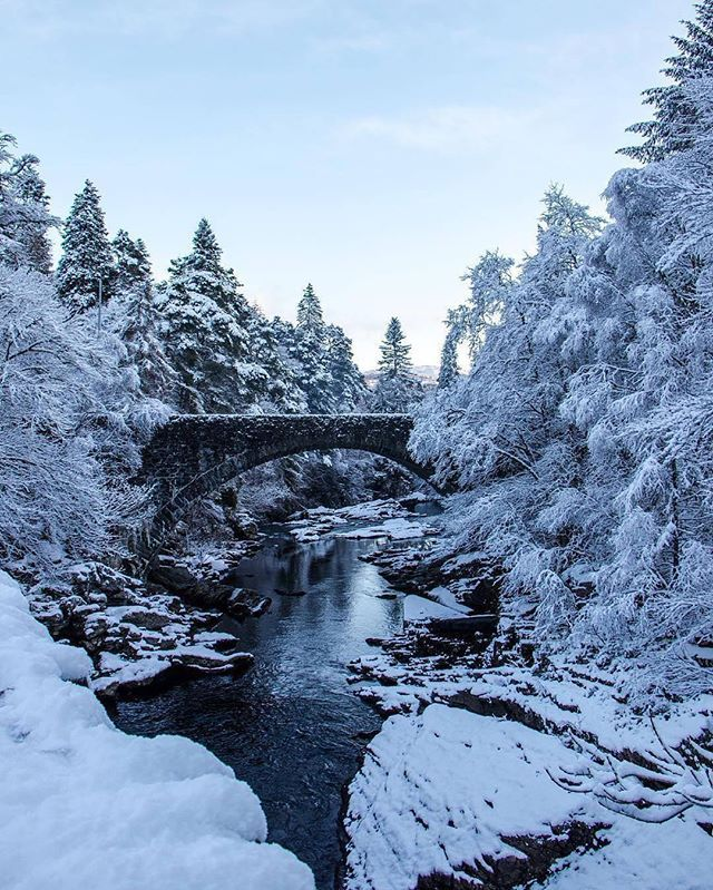 Repost From Visitscotland Stone Bridges Surrounded By Snowy Landscapes Make For Some Spectacular Photo Opportunitie Winter Scenery Winter Scenes Winter Photos