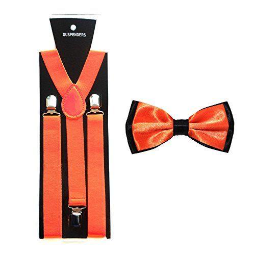 Men's Contrasting Colour Satin Bow Tie with Matching Braces (Orange) Robelli http://www.amazon.co.uk/dp/B0117CFN2E/ref=cm_sw_r_pi_dp_hd14wb0TA7BV8