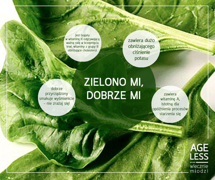 Szpinak – przez wielu kochany, dla innych nie do przełknięcia. Warto jednak się do niego przekonać – gwarantuje obniżenie ciśnienia za sprawą zawartego w nim potasu, a witaminy A, B i K pomogą osiągnąć #wiecznamlodosc!   #ageless #wieczniemlodzi #szpinak #warzywa #witaminy www.ageless.pl