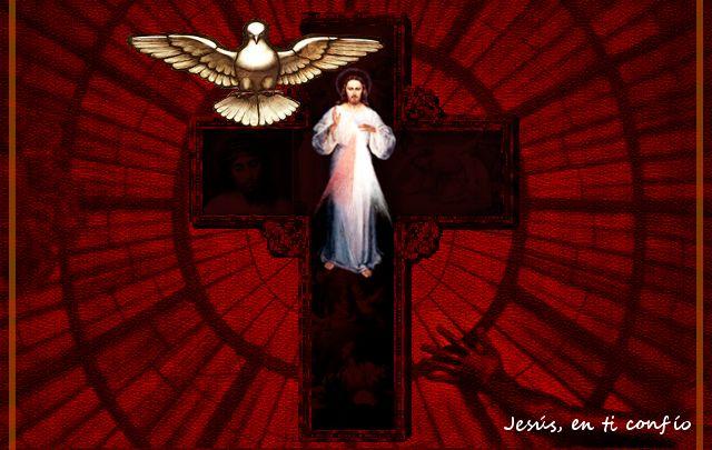Divina Misericordia : Foto de Jesus misericordioso con Espiritu Santo