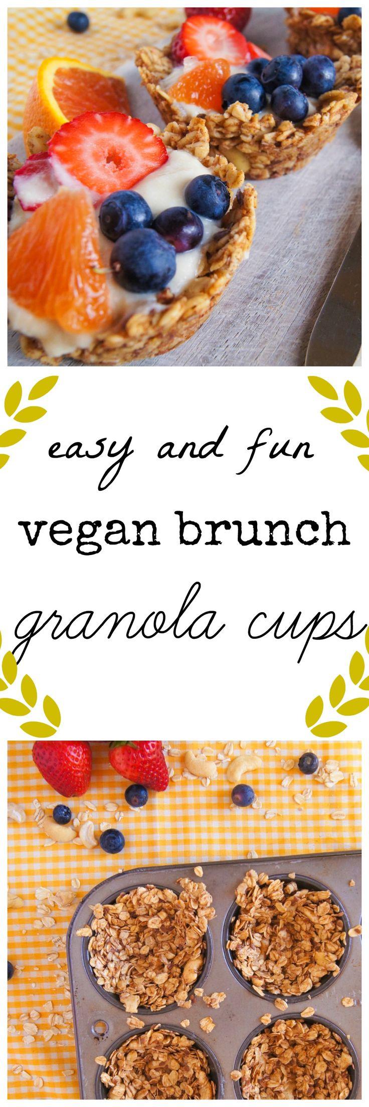 vegan brunch granola cup with vegan yogurt