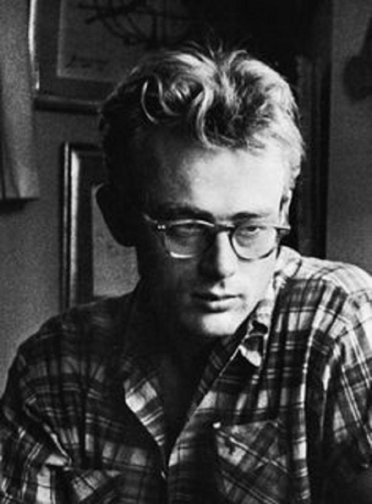james dean with glasses and plaid shirt