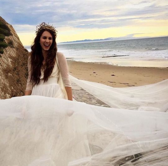 Troian Bellisario on wedding day