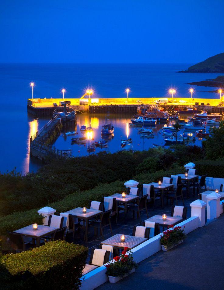 Evening twilight on the terrace