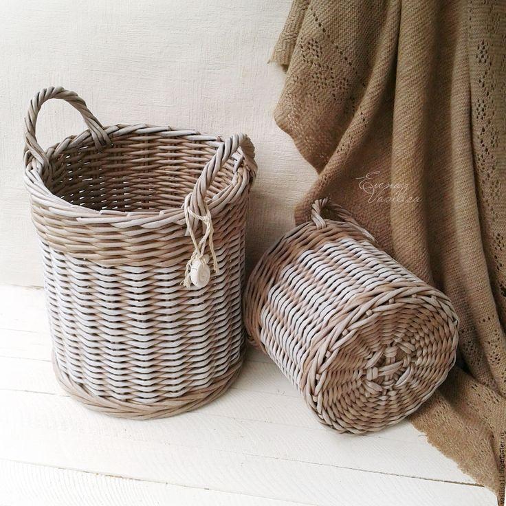 Купить Домашние корзины плетеные 2 шт. - корзины плетеные, домашние корзины…
