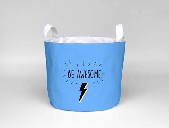 Awesome Superhero Decor Storage Basket Large Portable Blue
