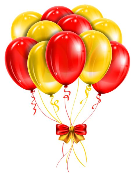 Transparent Red Yellow Balloons PNG Picture Clipart