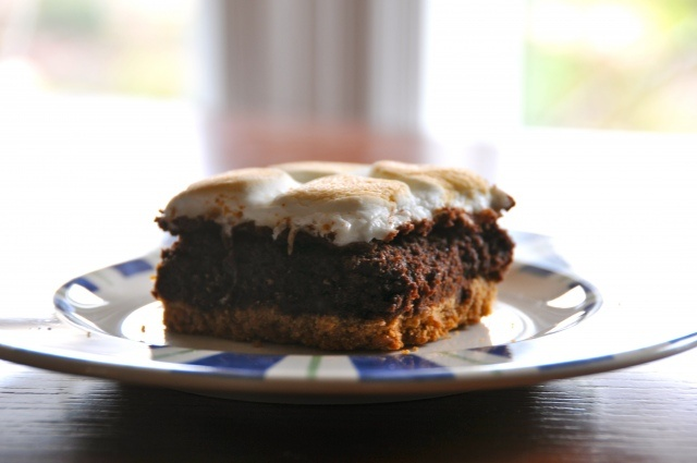 mores Brownie Bars | food and beverages | Pinterest
