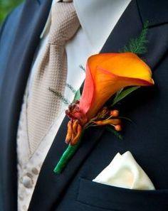 Ellos también se adaptan a la paleta de colores que ofrece una boda en temporada de castañas y calabazas