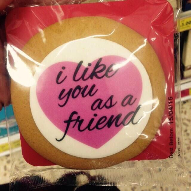 i like you as a friend cookie - valentine | be my valentine, Ideas