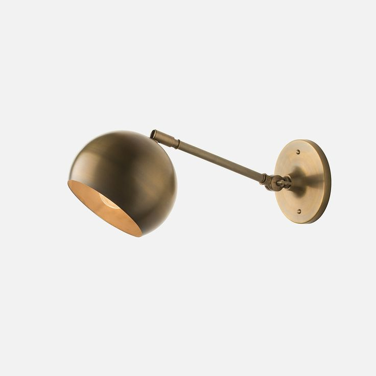 Isaac Sconce Brass - Long Arm