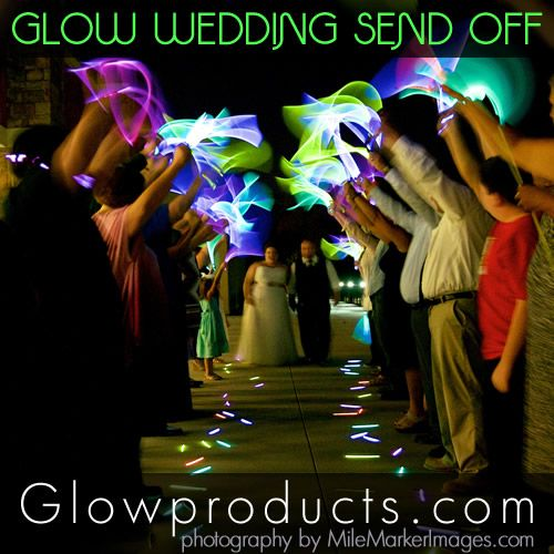Send Off the Wedding Night with Glow! Glowproducts.com Images by MileMarkerImages.com