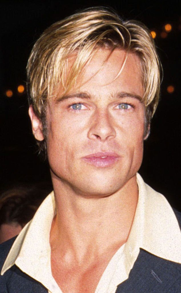 1997 from Brad Pitt's Hair Through the Years  Brad sported a nearly identical blonde pixie cut to then-girlfriend Gwyneth Paltrow.