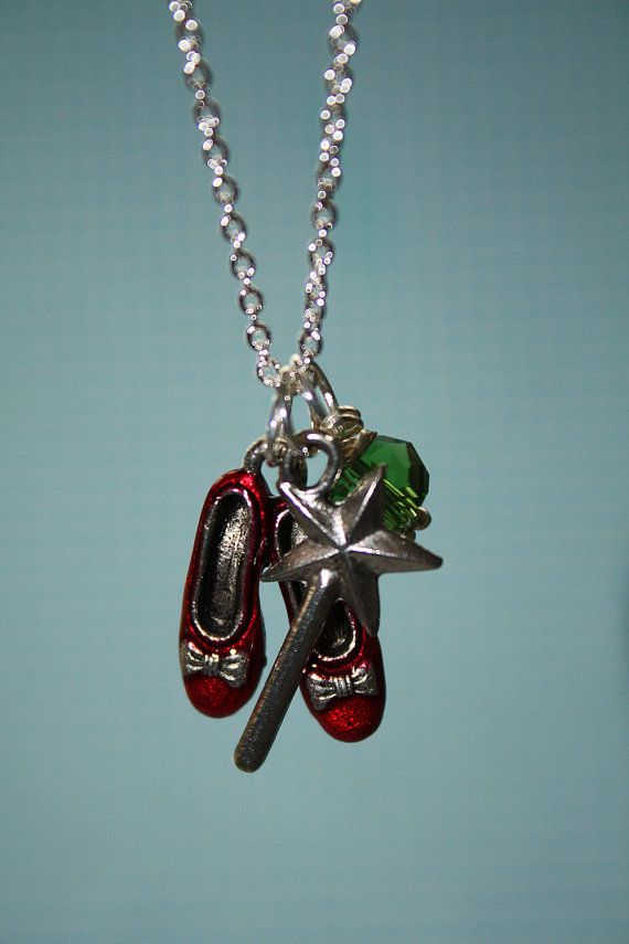 ruby slipper, wizard of oz charms.... love this