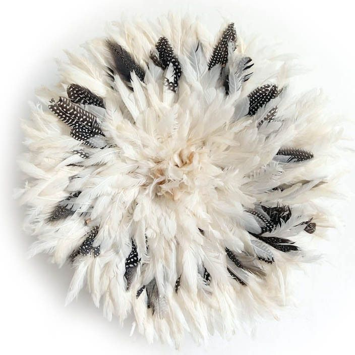 Table Tonic - Medium Bamileke Feather Juju Hat (Off White Guinea Fowl Fleck) PRE-ORDER for JUNE 2016, $399.00 (http://www.tabletonic.com.au/medium-bamileke-feather-juju-hat-off-white-guinea-fowl-fleck-pre-order-for-june-2016/)
