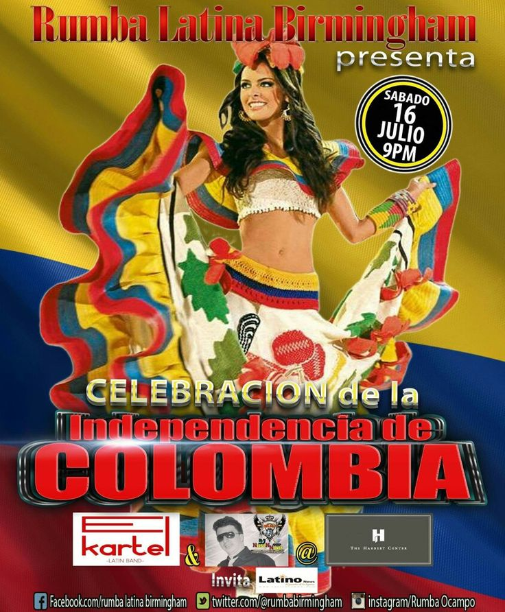 Celebrating Colombia Independence Day!