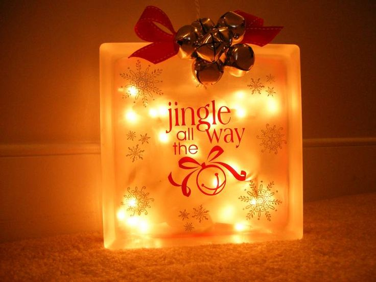 Glass Block Craft Ideas For Christmas Part - 36: Glass Christmas Block - Lit By Mandypandy - Cards And Paper Crafts At  Splitcoaststampers