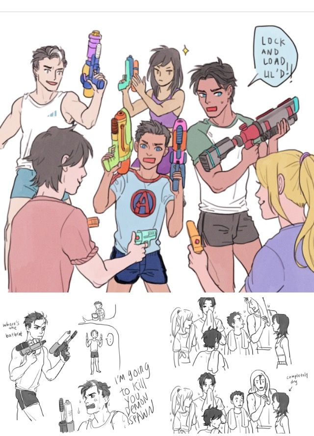 Funny Pictures 0f81a7039ad61b65244996c1ad075e05--batfamily-funny-water-guns