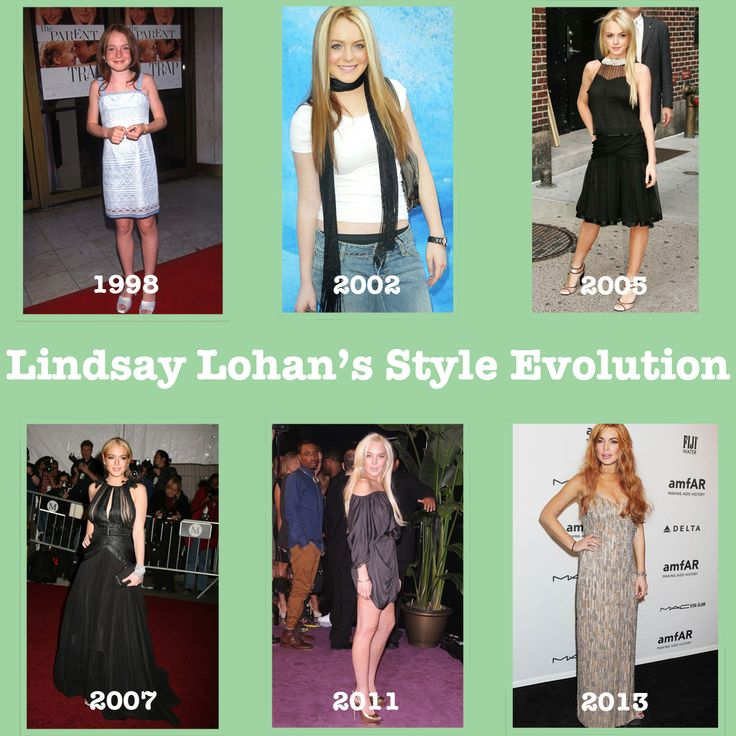 """Lindsay Lohan's Style Evolution since her first movie """"The Parent Trap"""" in 1998"""
