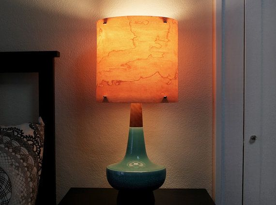 "ON SALE! Universal 11"" Real Wood  Veneer Lampshade - for Table Floor or Pendant Lamp Use - Modern Lighting"